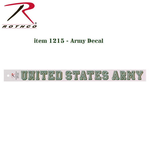 Rothco United States Army Decal (1215)