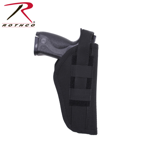 Black Nylon Police Hip Holster (10556) 194-10556 weapon not included