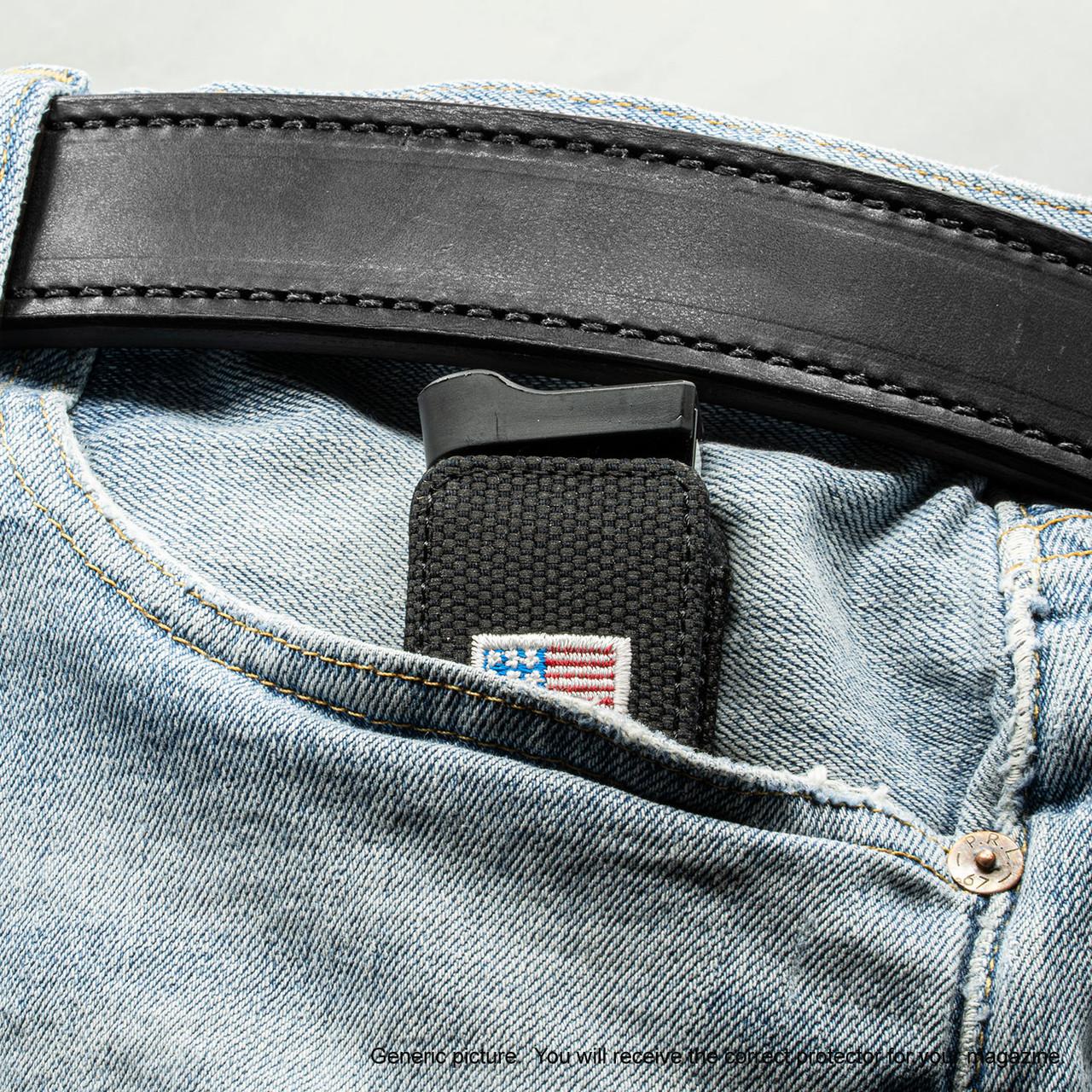 Sig P238 Black Canvas Flag Magazine Pocket Protector