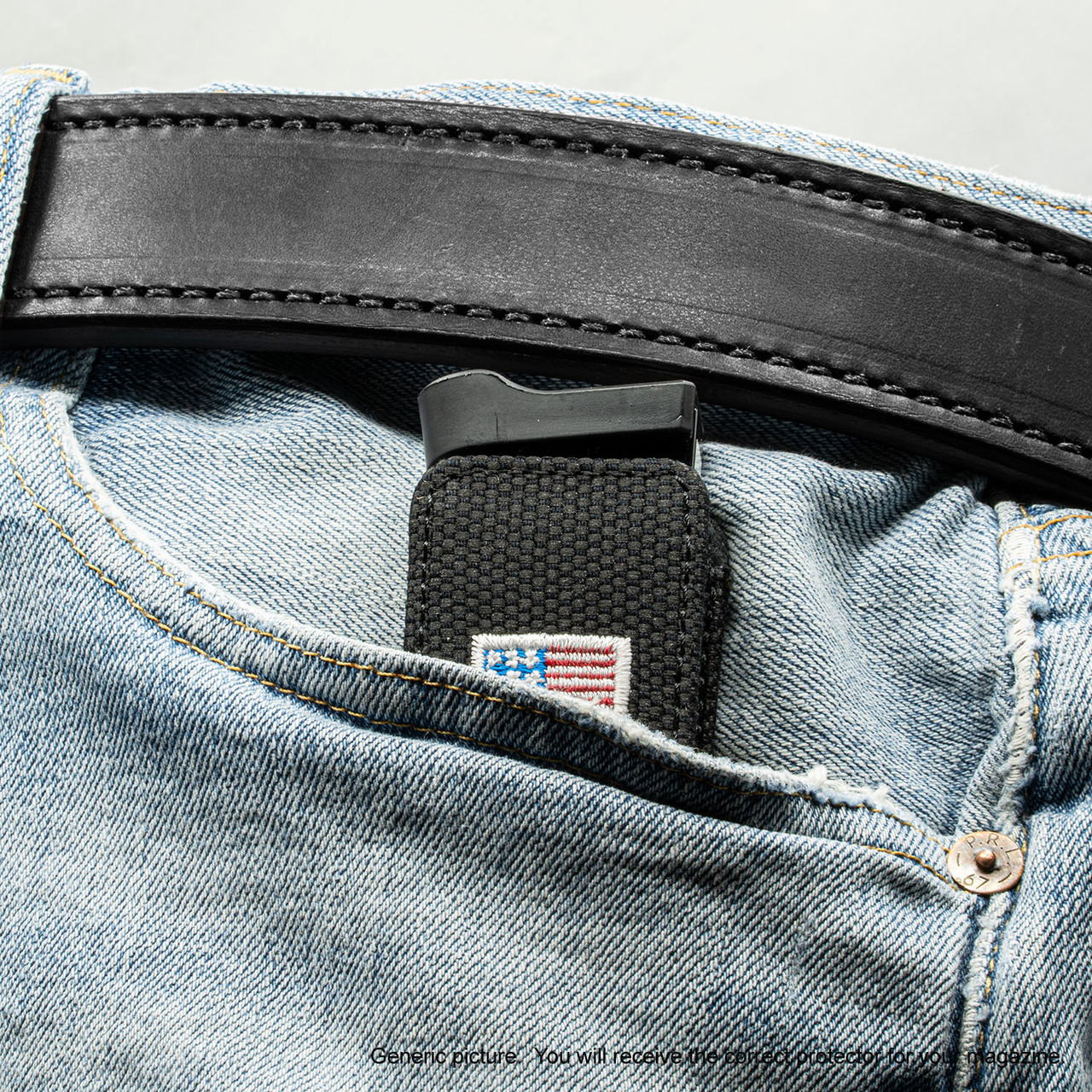 Walther PPK Black Canvas Flag Magazine Pocket Protector
