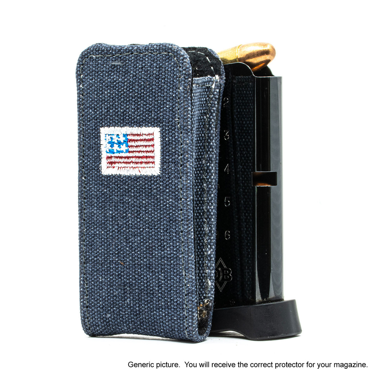 Ruger EC9s Denim Canvas Flag Magazine Pocket Protector