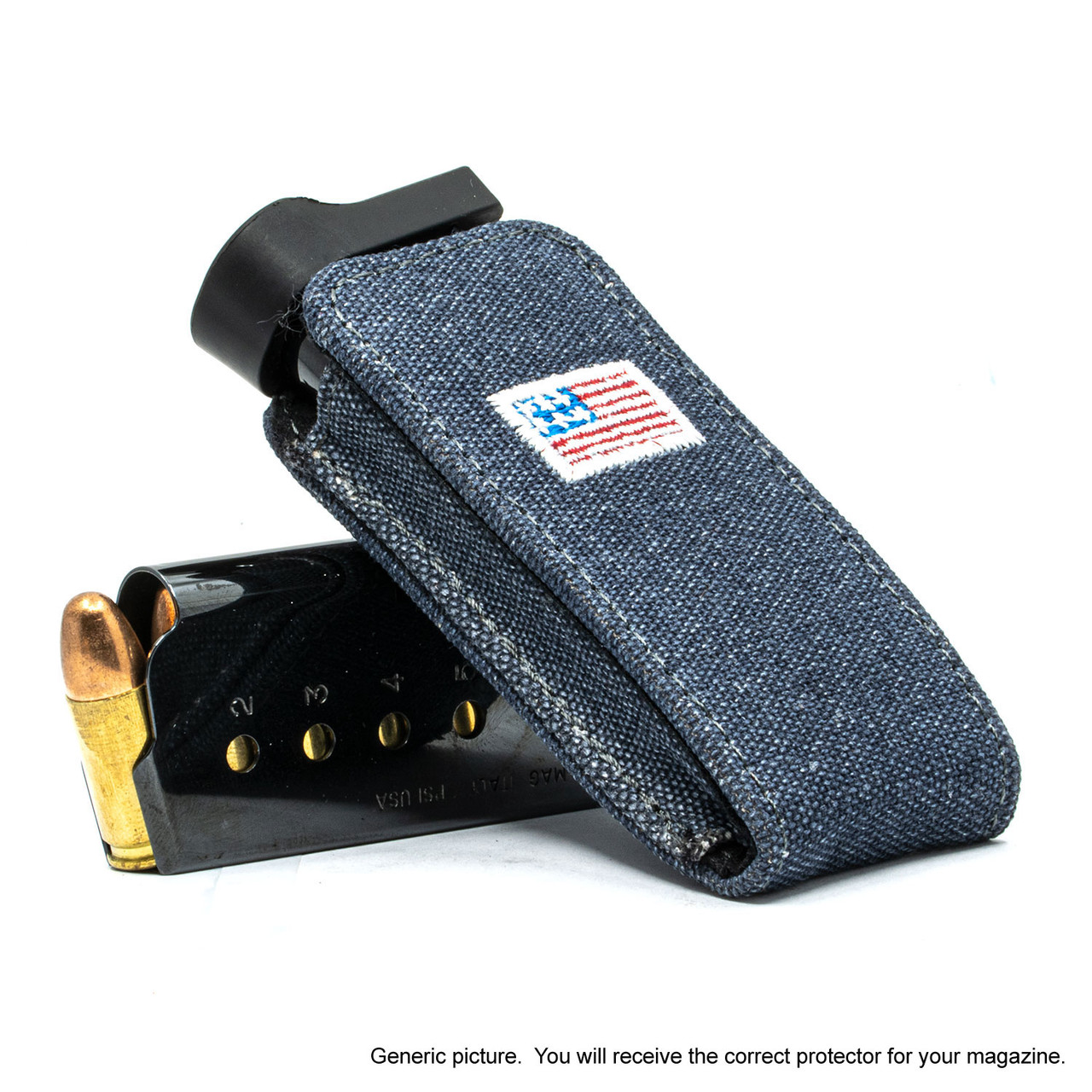 Shield EZ 9mm Denim Canvas Flag Magazine Pocket Protector