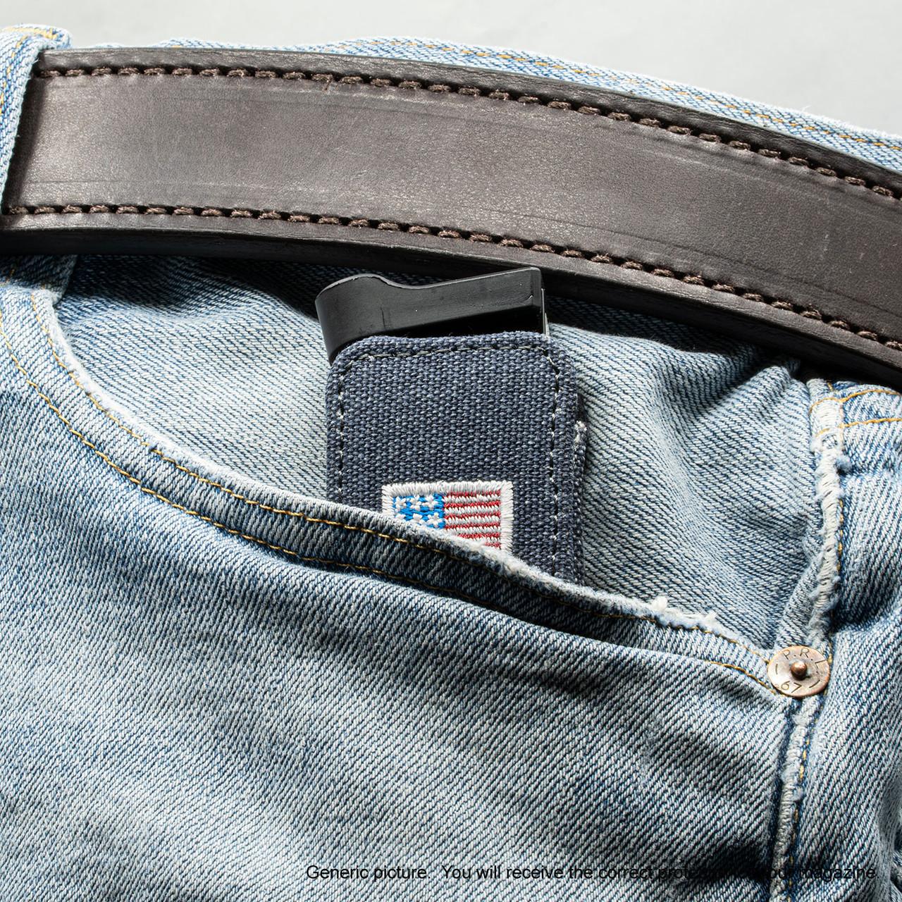 Springfield XDS-9 3.3 Denim Canvas Flag Magazine Pocket Protector