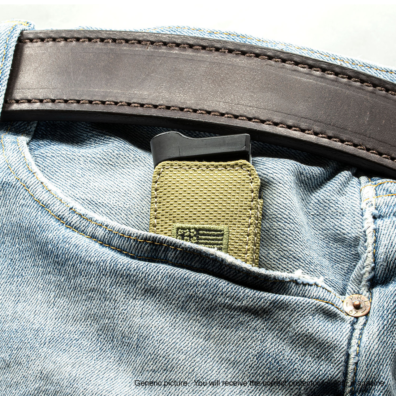 Glock 19X Green Canvas Flag Magazine Pocket Protector
