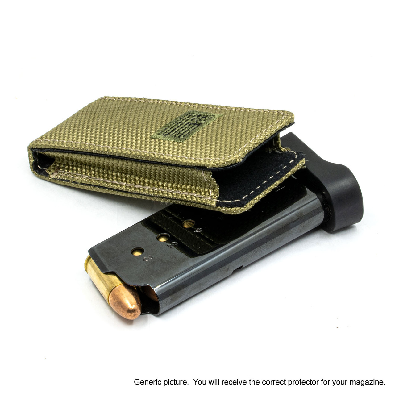 Glock 26 Green Canvas Flag Magazine Pocket Protector