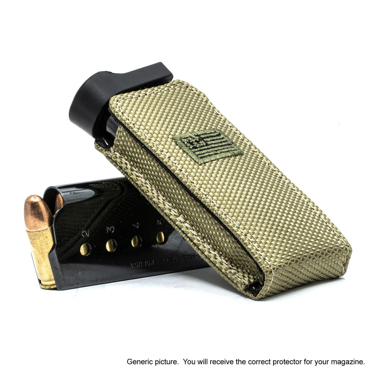 Kimber Ultra Carry II Green Canvas Flag Magazine Pocket Protector