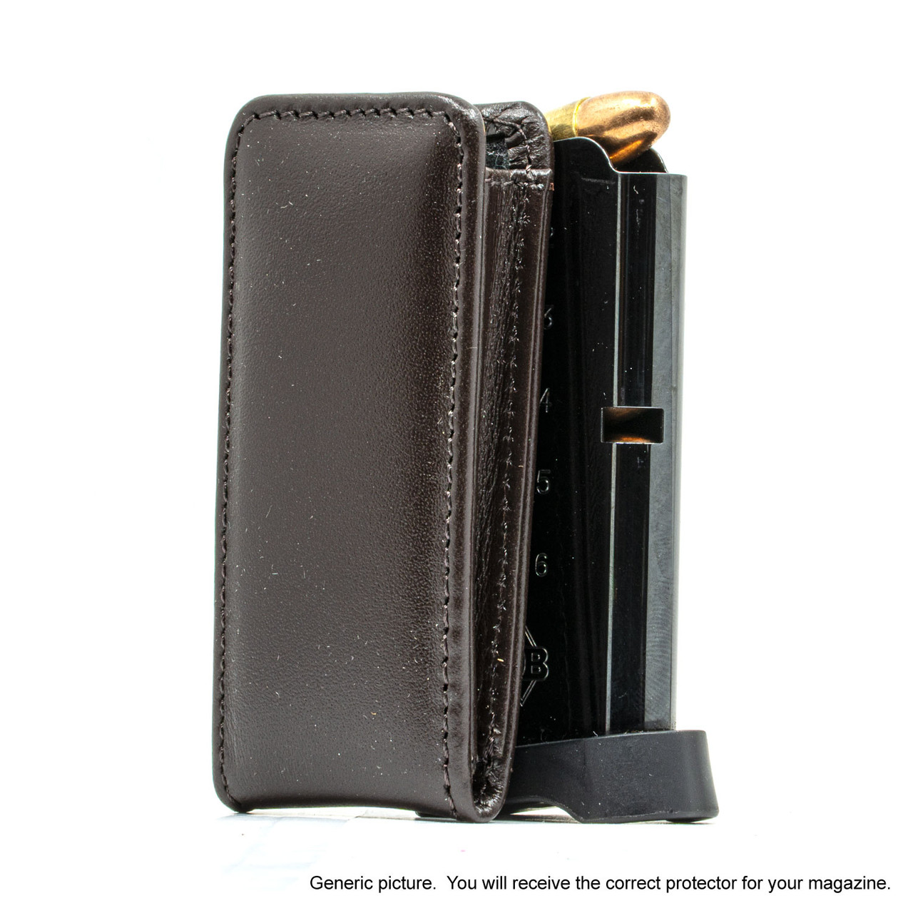 AMT Backup .380 Brown Leather Magazine Pocket Protector