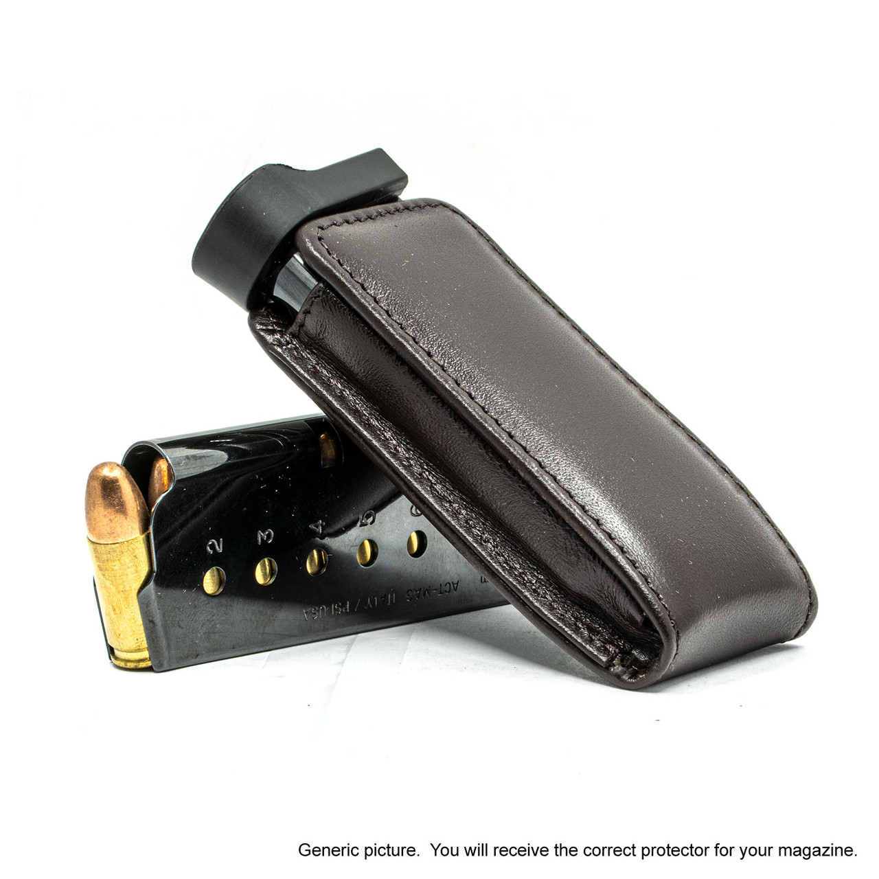 CZ 75D Compact Brown Leather Magazine Pocket Protector