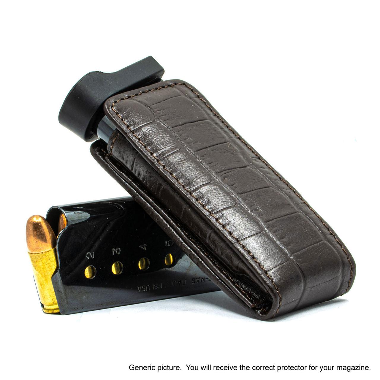 Kahr CW45 Brown Alligator Magazine Pocket Protector