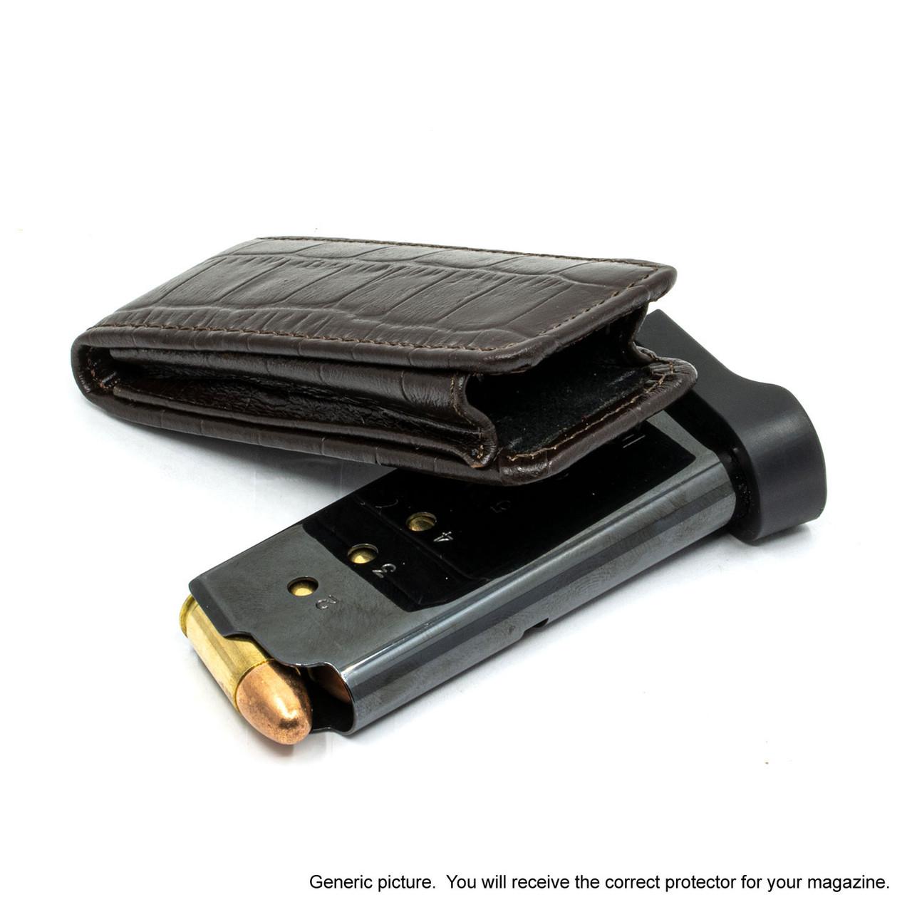 Walther PPK/S Brown Alligator Magazine Pocket Protector