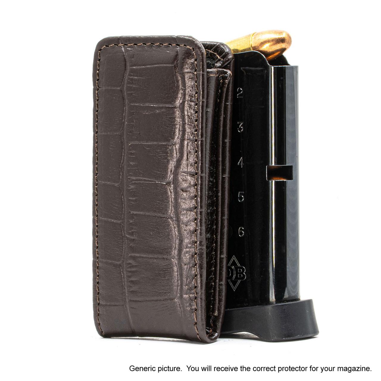 Browning 1911 .380 Brown Alligator Magazine Pocket Protector