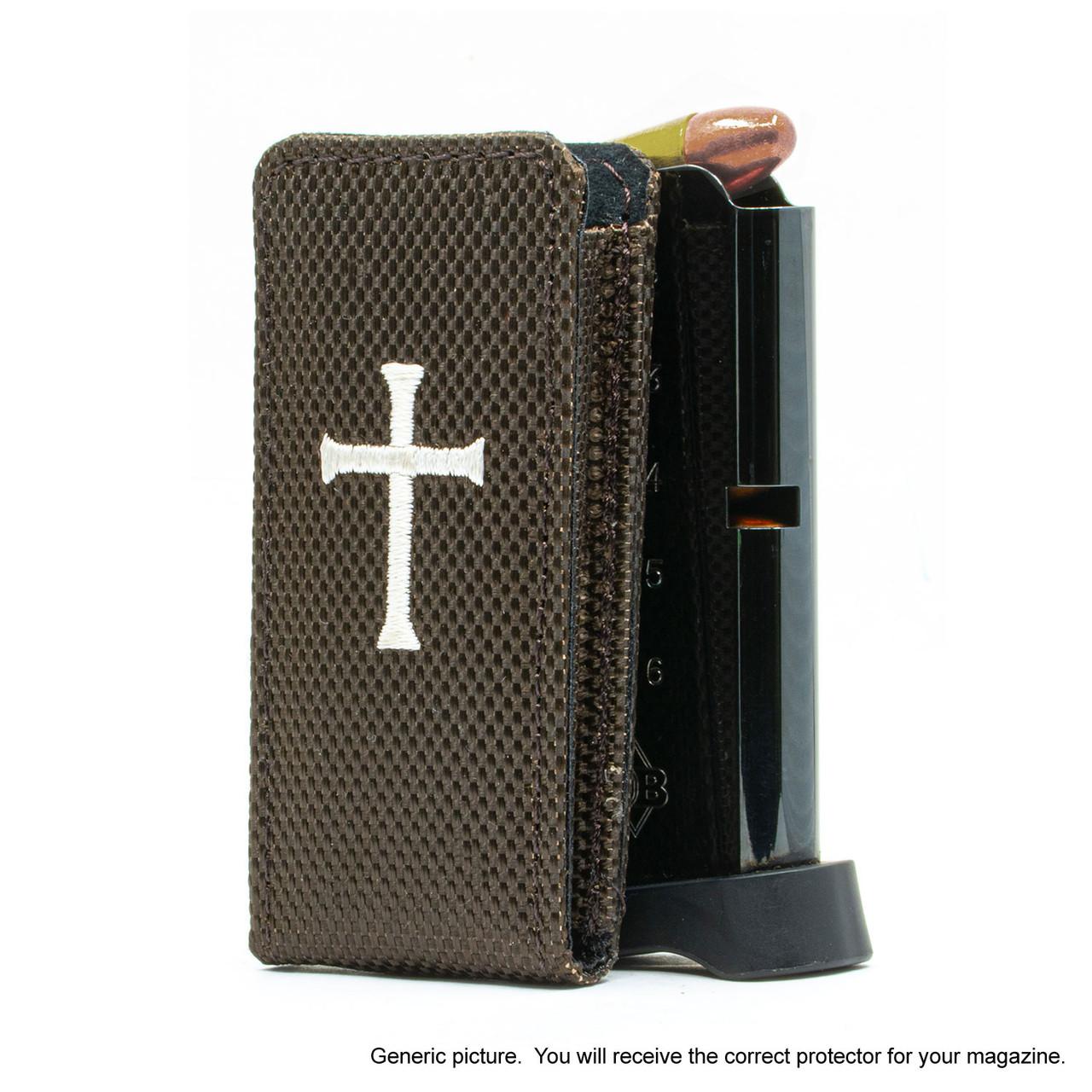 Glock 26 Brown Nylon Cross Magazine Pocket Protector