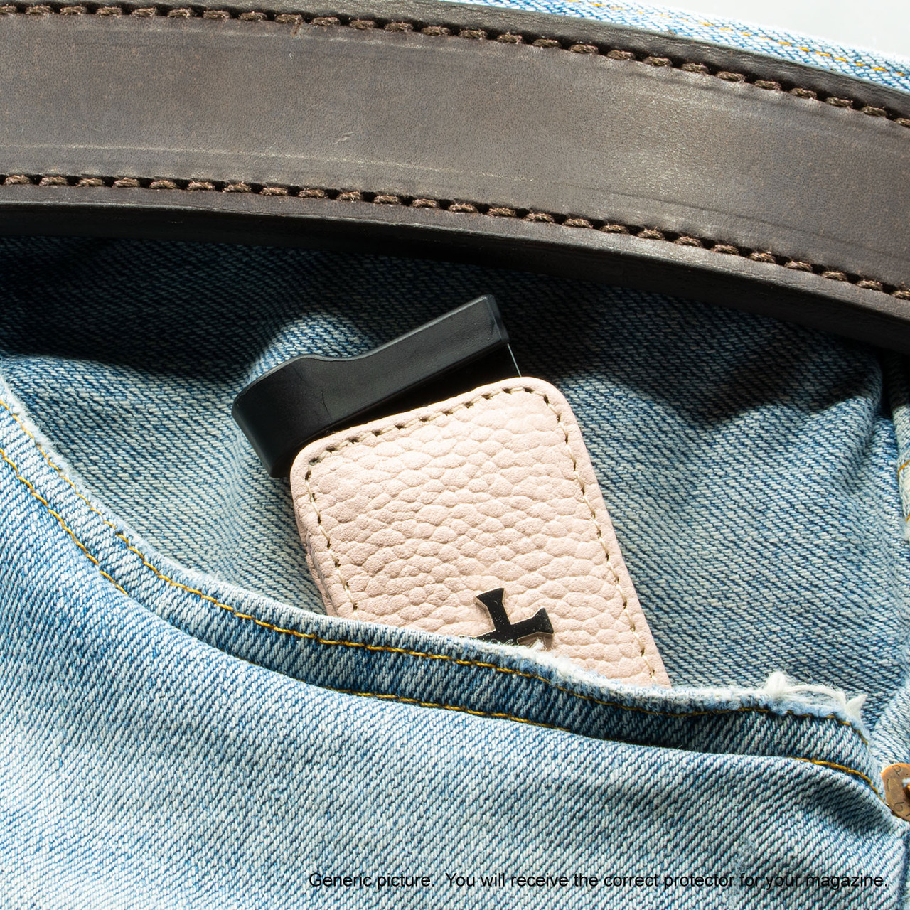 Ruger LCP II Pink Carry Faithfully Cross Magazine Pocket Protector