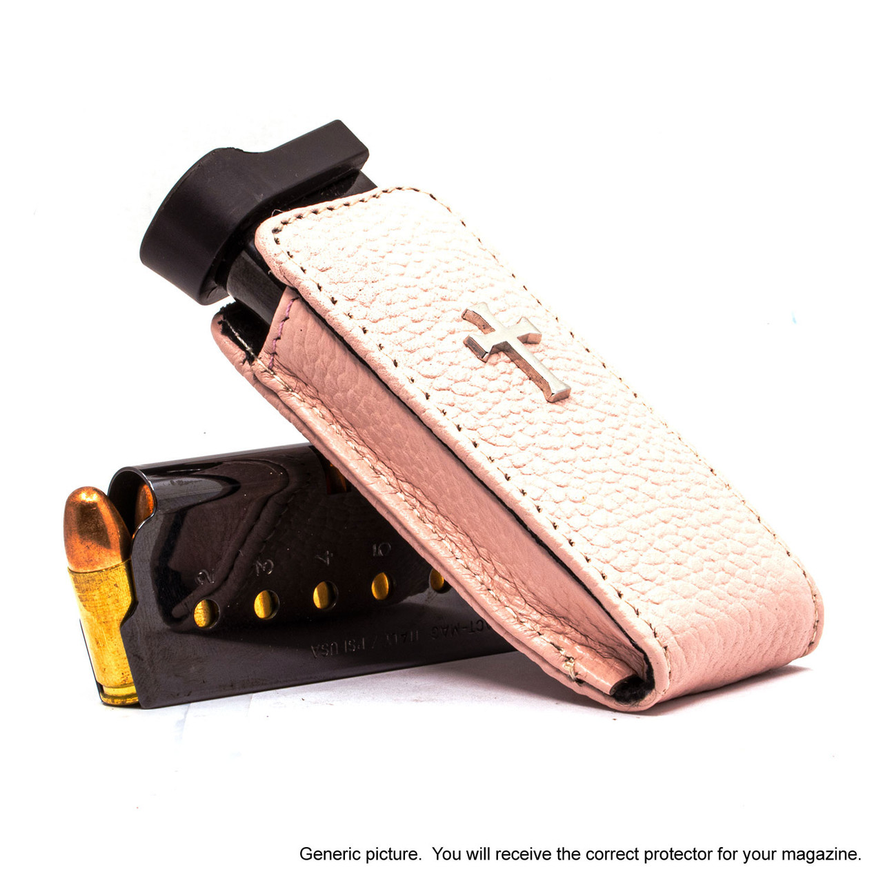 Walther PPS .40cal Pink Carry Faithfully Cross Magazine Pocket Protector