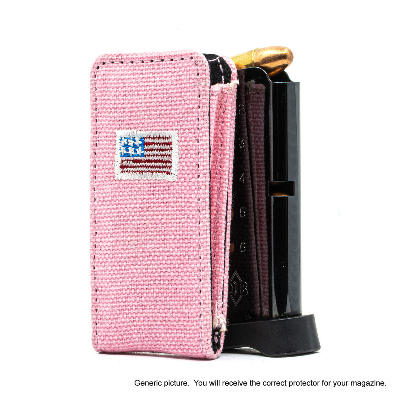 Glock 26 Pink Canvas Flag Magazine Pocket Protector
