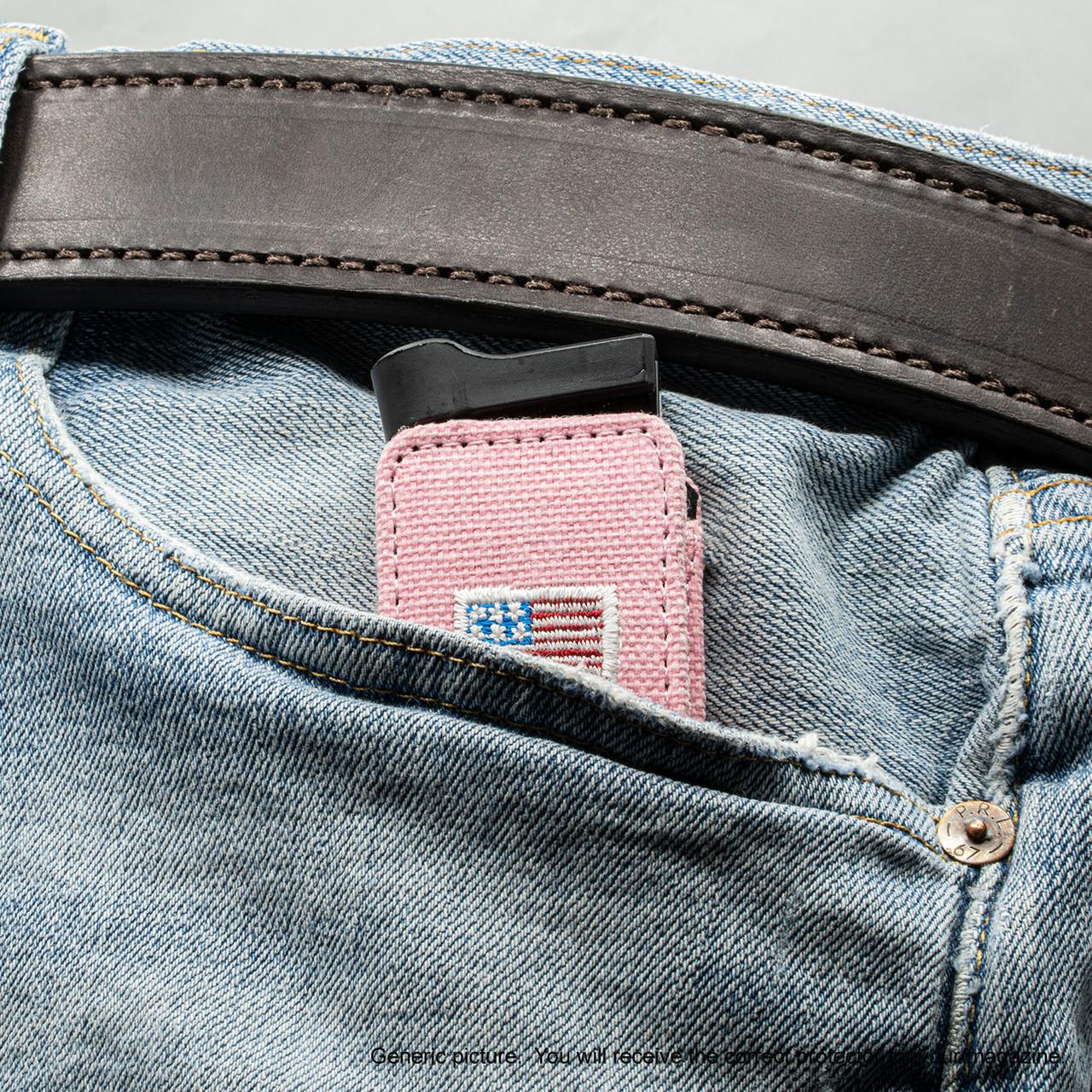 Kahr CW45 Pink Canvas Flag Magazine Pocket Protector