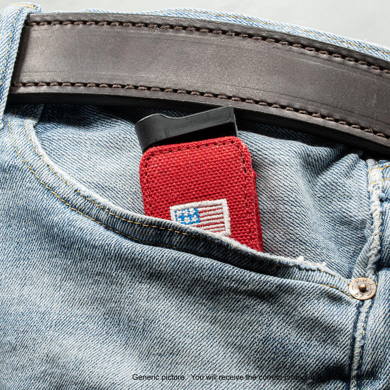 Kahr K40 Red Canvas Flag Magazine Pocket Protector