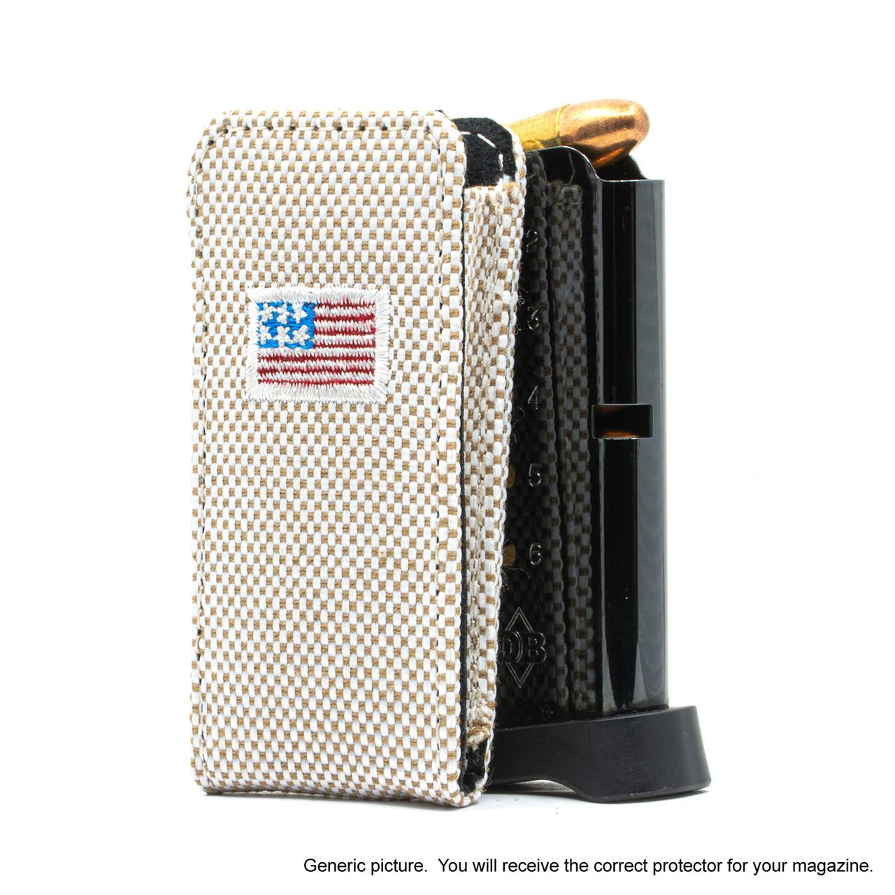 Kahr K40 Tan Canvas Flag Magazine Pocket Protector