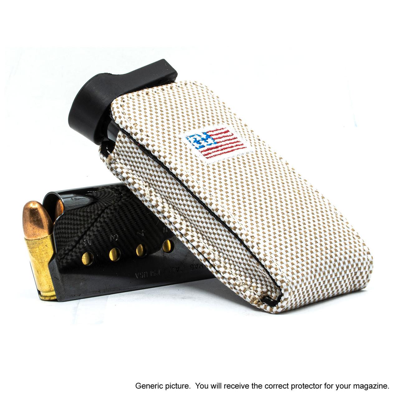 Kahr PM45 Tan Canvas Flag Magazine Pocket Protector