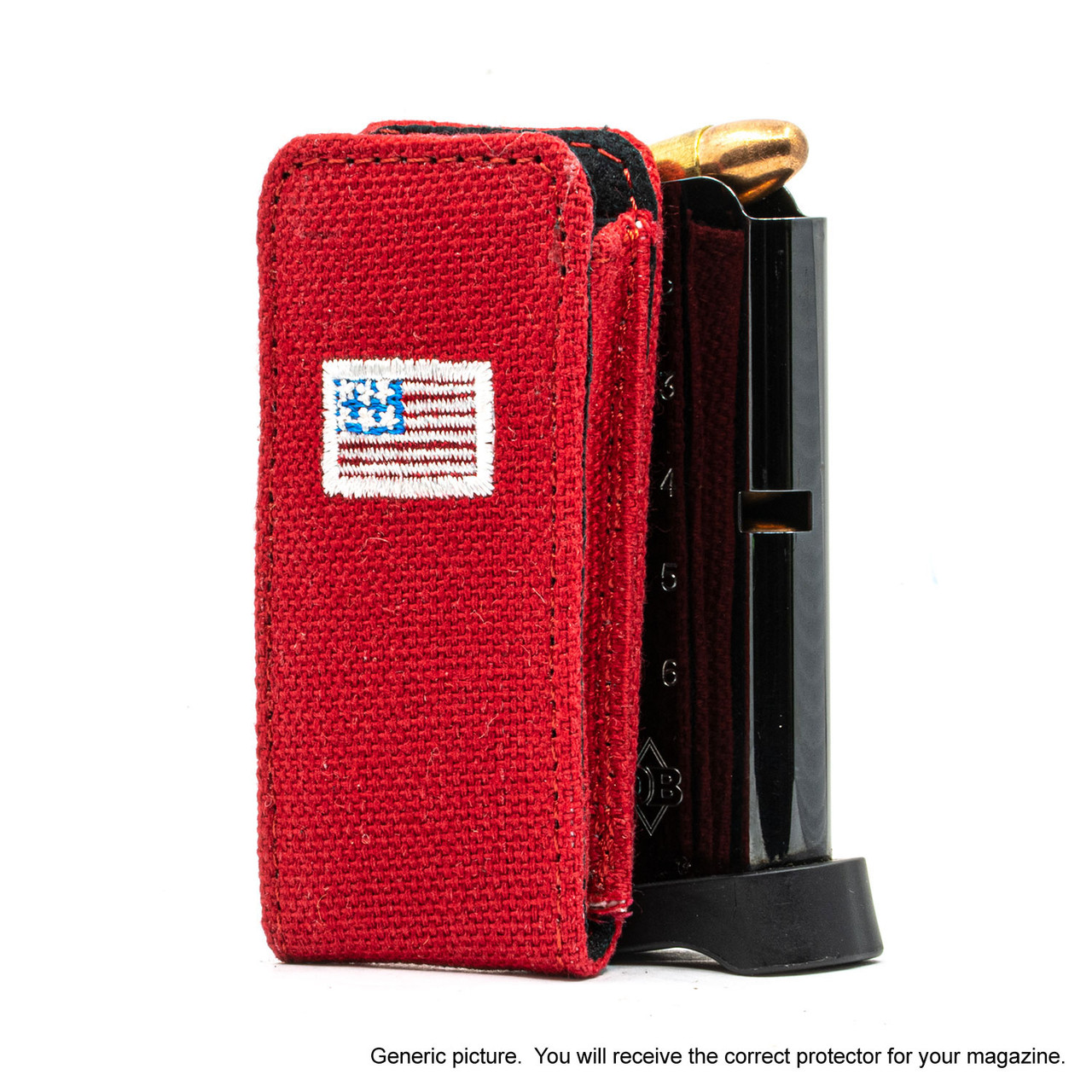 Ruger LCP MAX Red Canvas Flag Magazine Pocket Protector