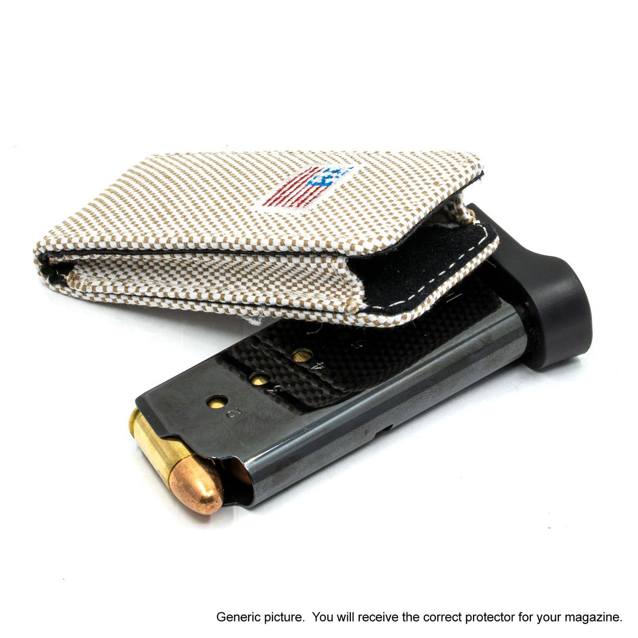 Ruger LCP MAX Tan Canvas Flag Magazine Pocket Protector
