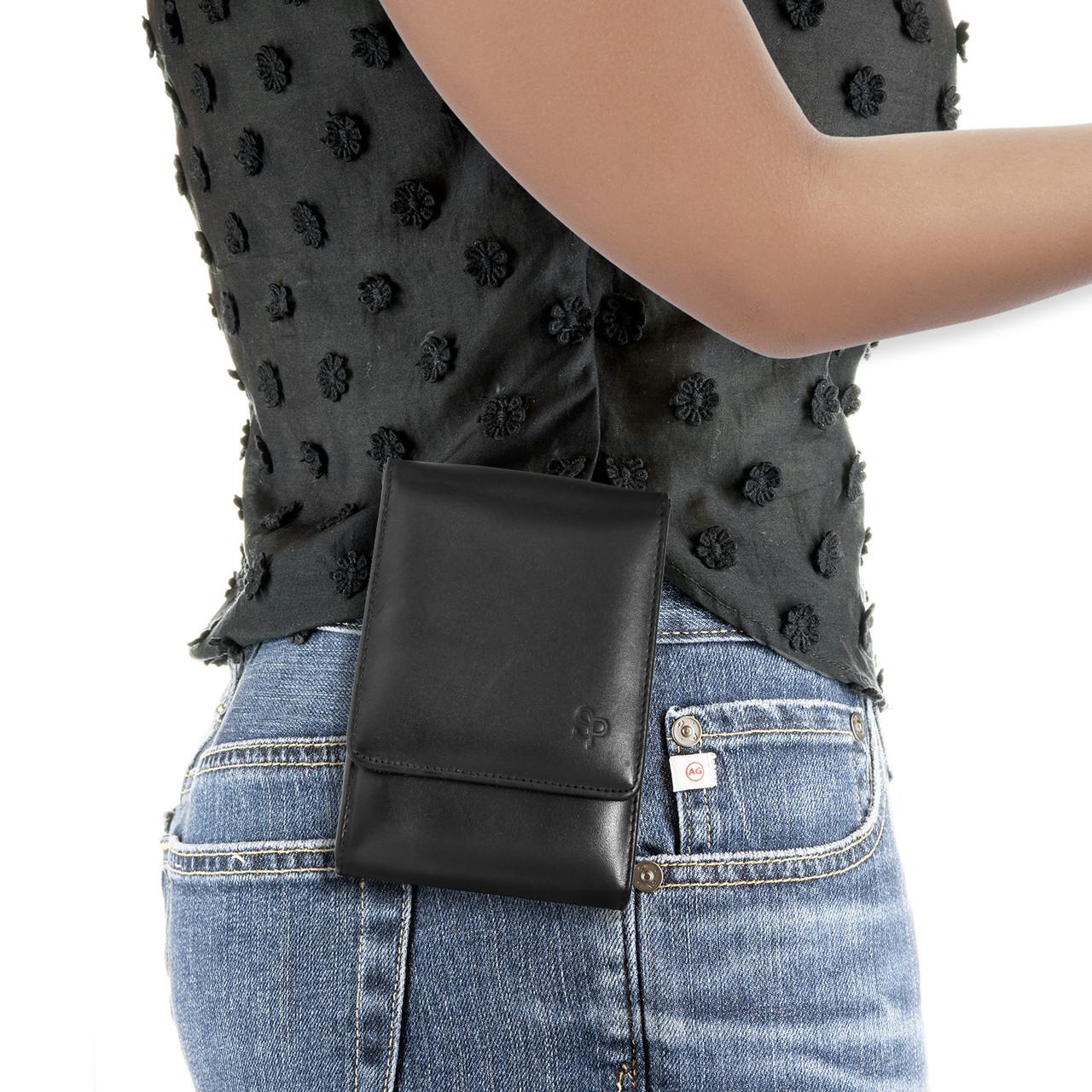 Glock 19X Black Leather Holster
