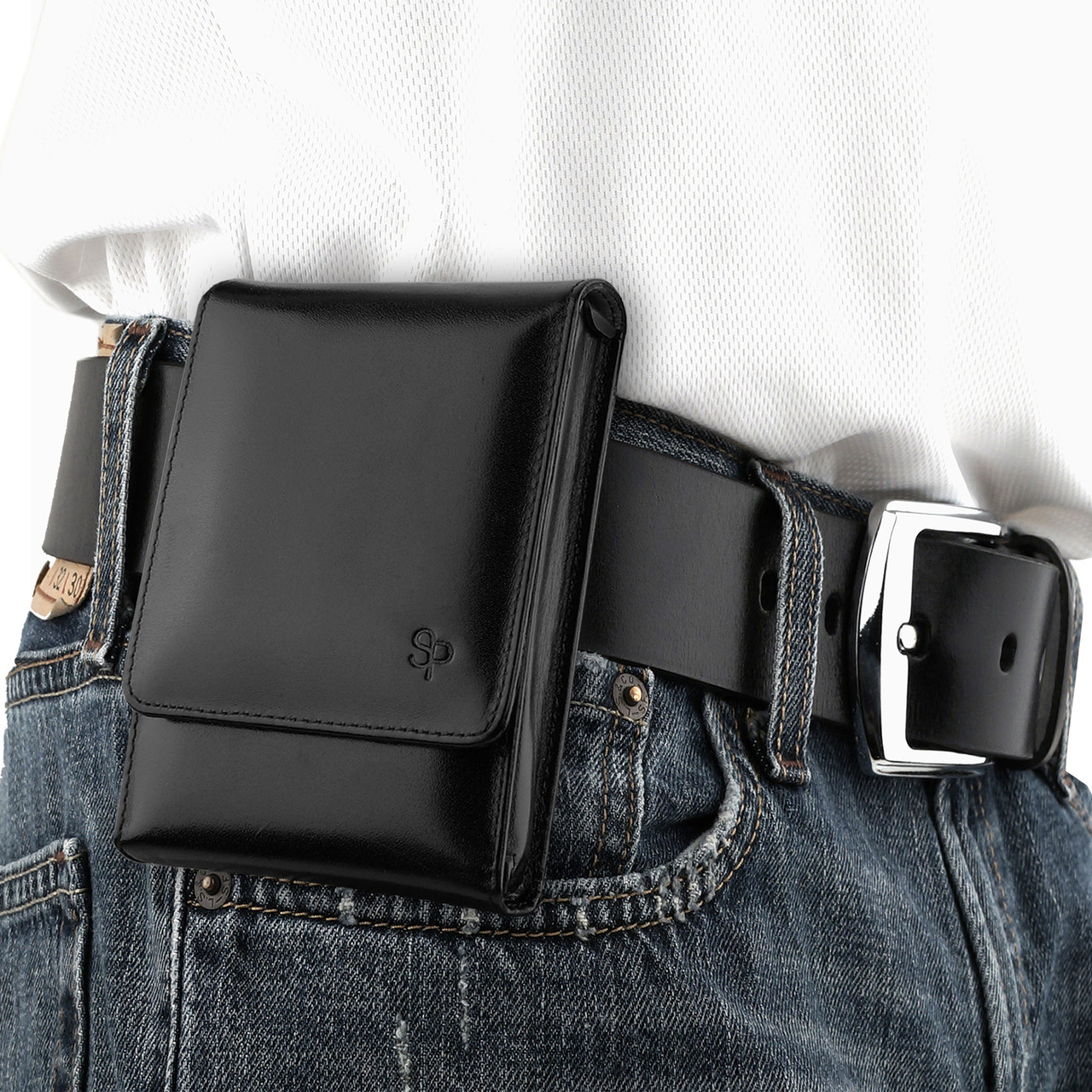 Kahr CW45 Black Leather Holster