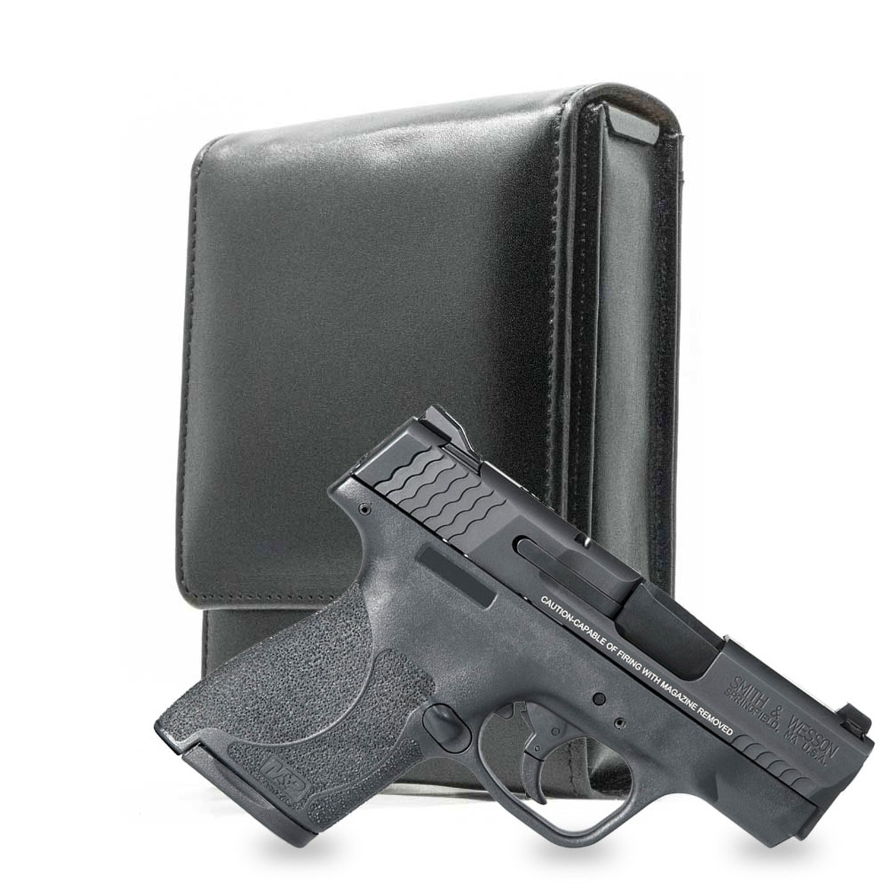 M&P Shield 9mm Black Leather Holster