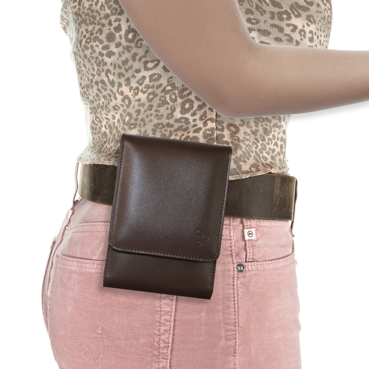Glock 43X Brown Leather Series Holster