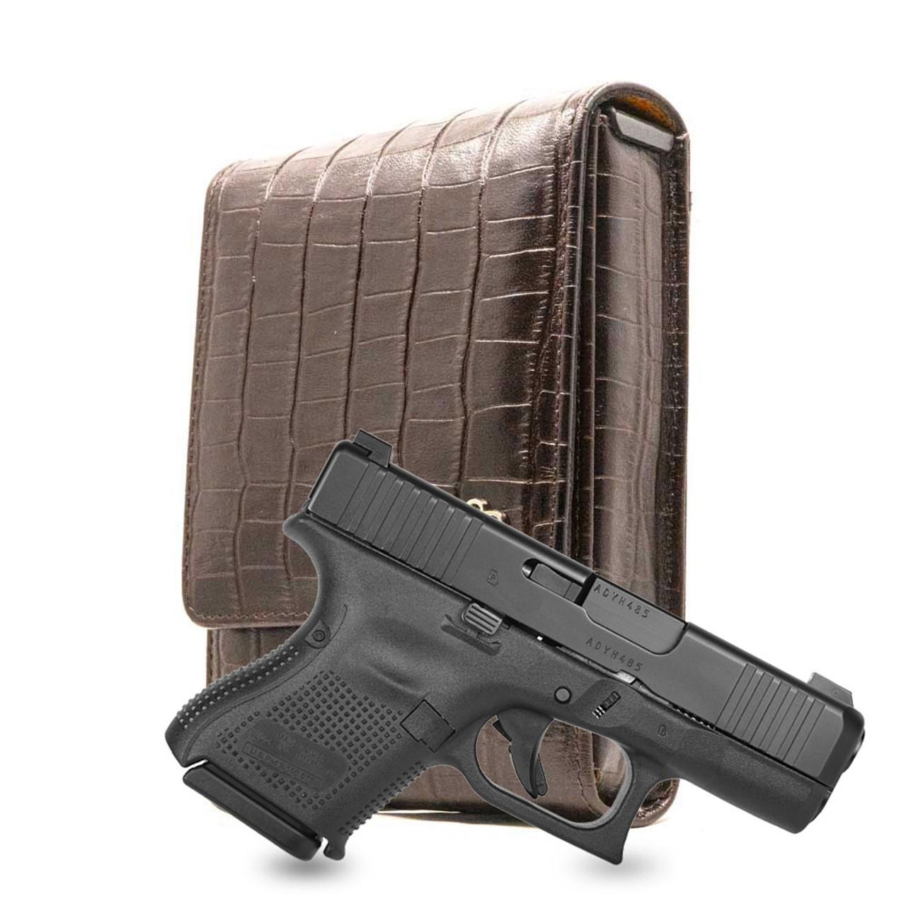Glock 26 Brown Alligator Series Holster