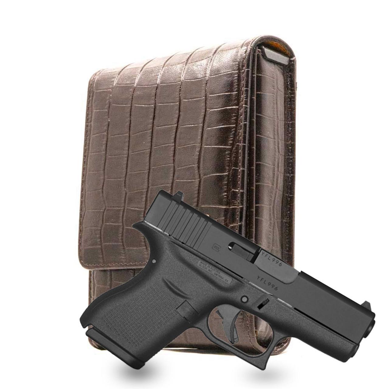 Glock 43 Brown Alligator Series Holster