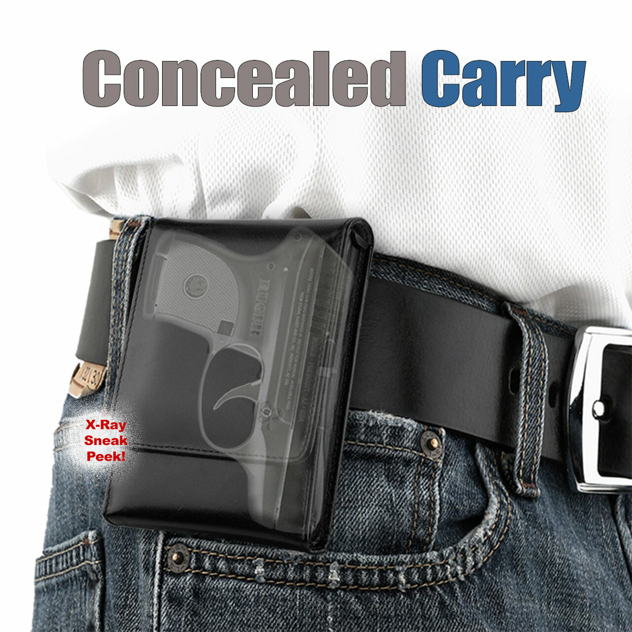 Ruger LCP Sneaky Pete Holster (Belt Clip)