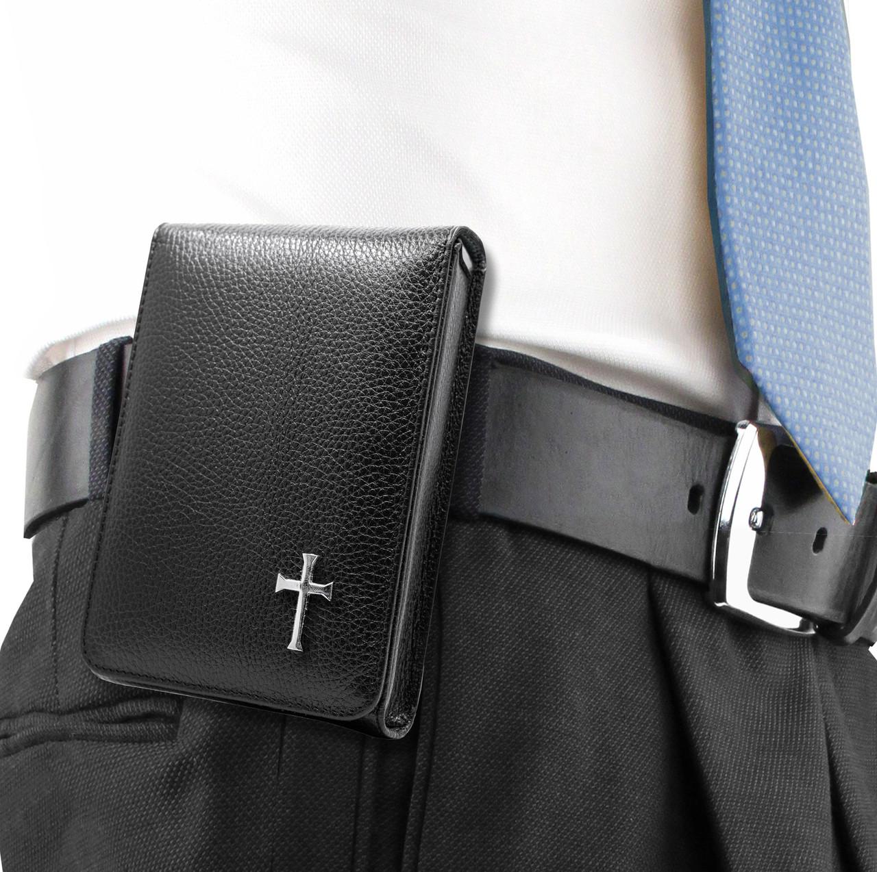 Glock 19X Black Leather Cross Series Holster