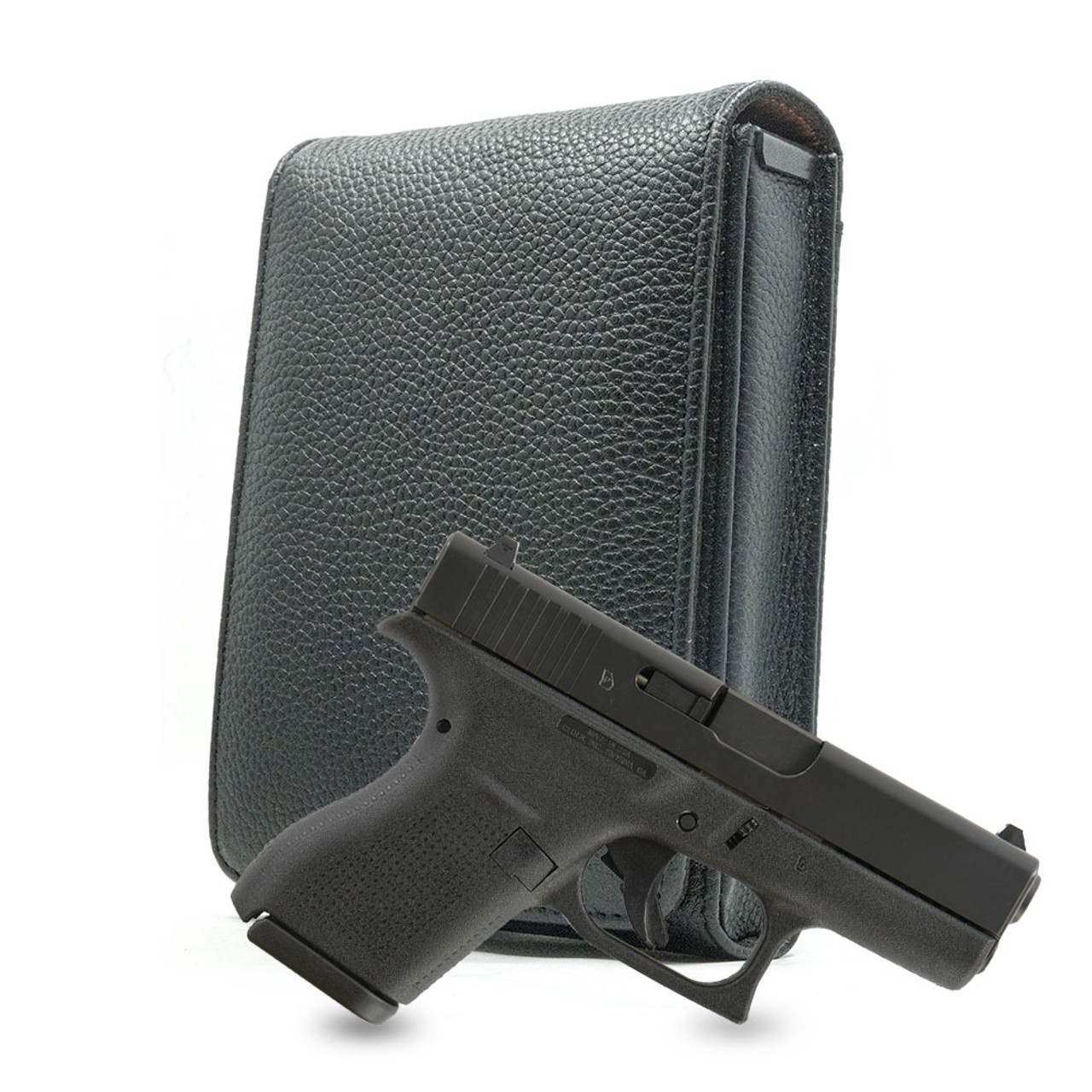 Glock 42 Black Leather Cross Series Holster