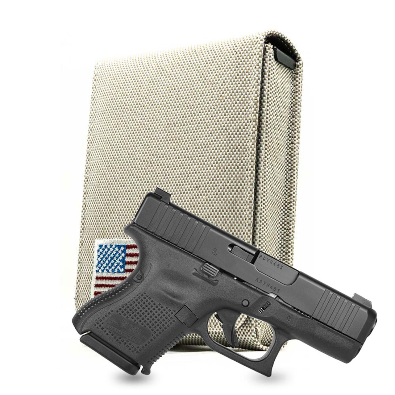 Glock 26 Tan Canvas Flag Series Holster