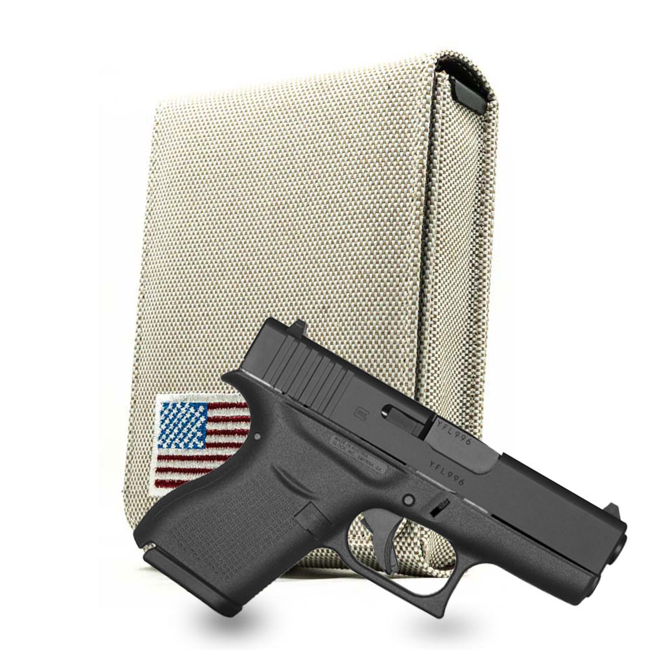 Glock 43 Tan Canvas Flag Series Holster
