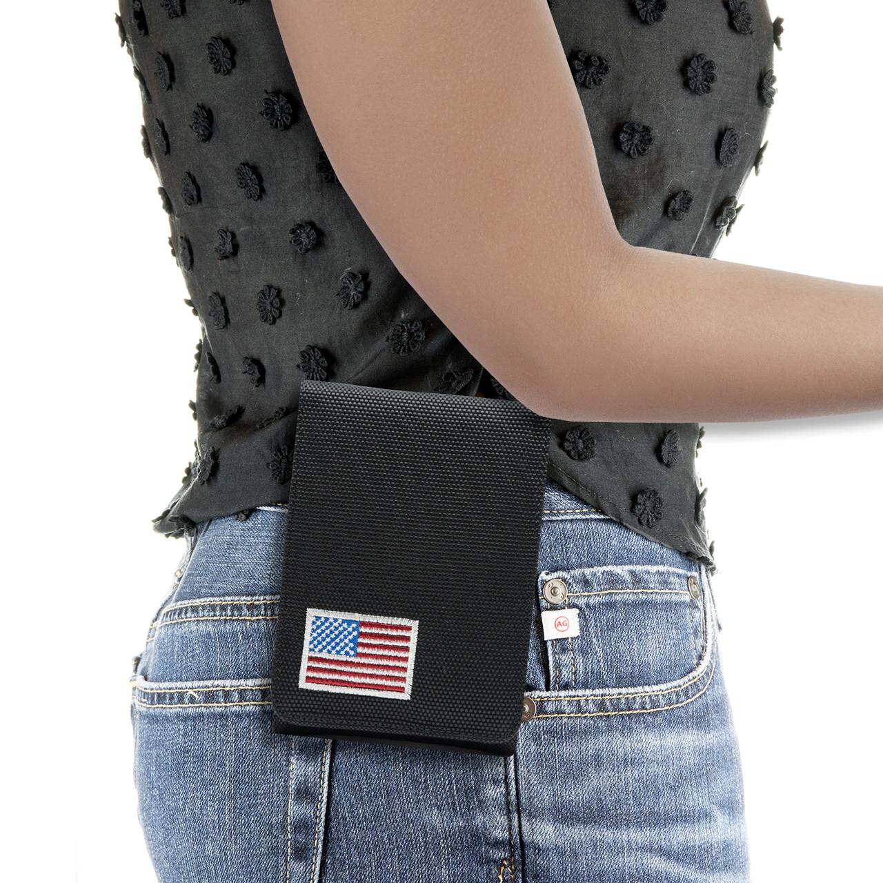 Glock 48 Black Canvas Flag Series Holster