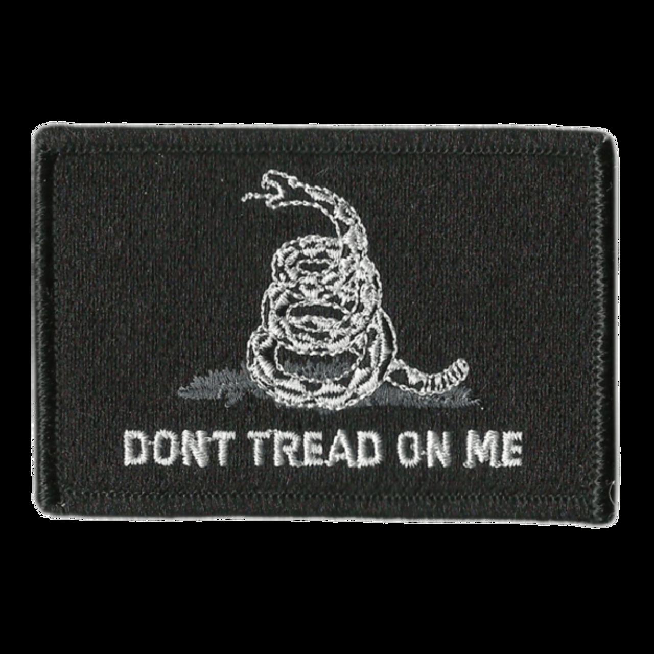 Black Gadsden Tactical Patch