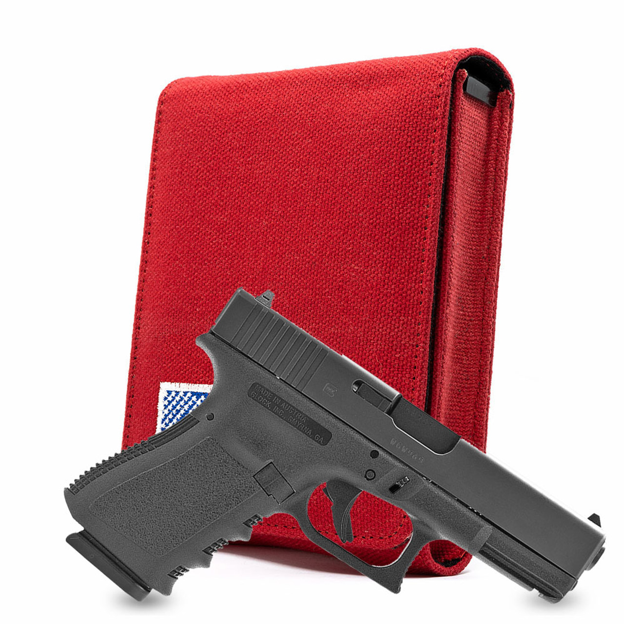 Glock 19 Red Canvas Flag Series Holster