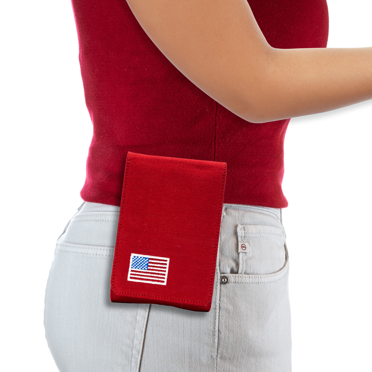 Glock 19X Red Canvas Flag Series Holster