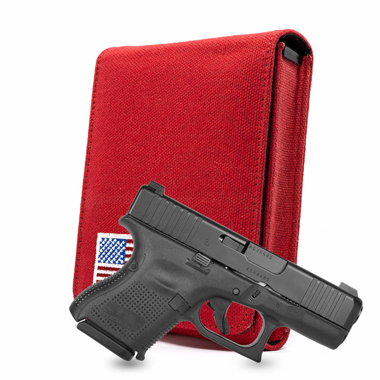 Glock 26 Red Canvas Flag Series Holster