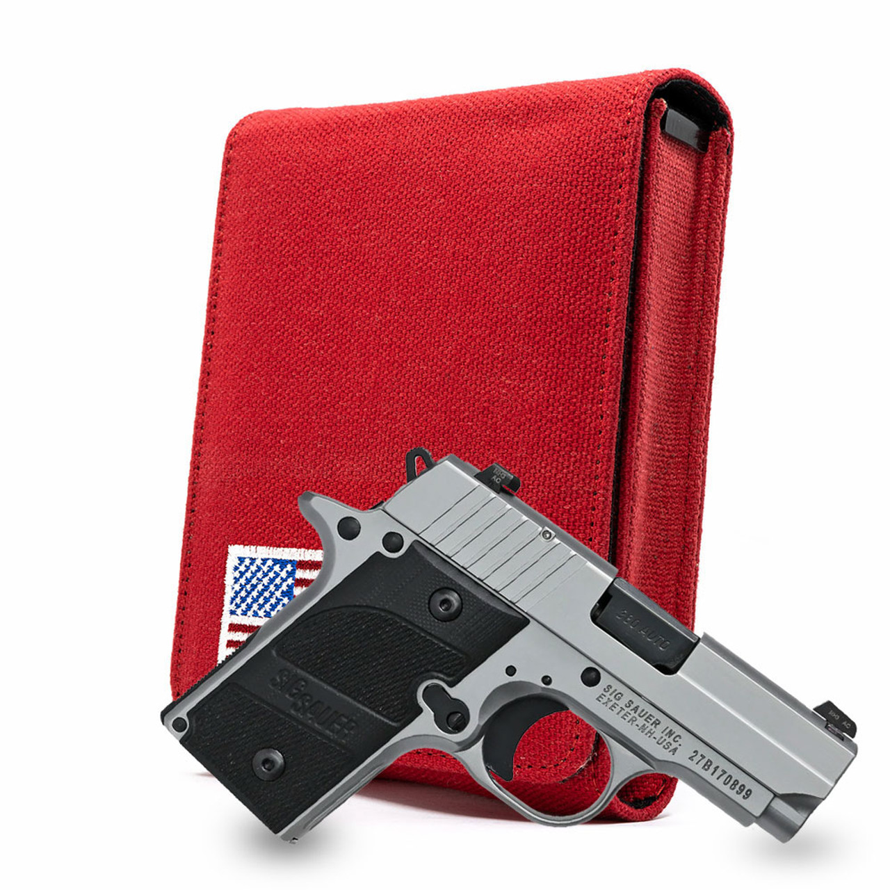 Sig P238 Red Canvas Flag Series Holster
