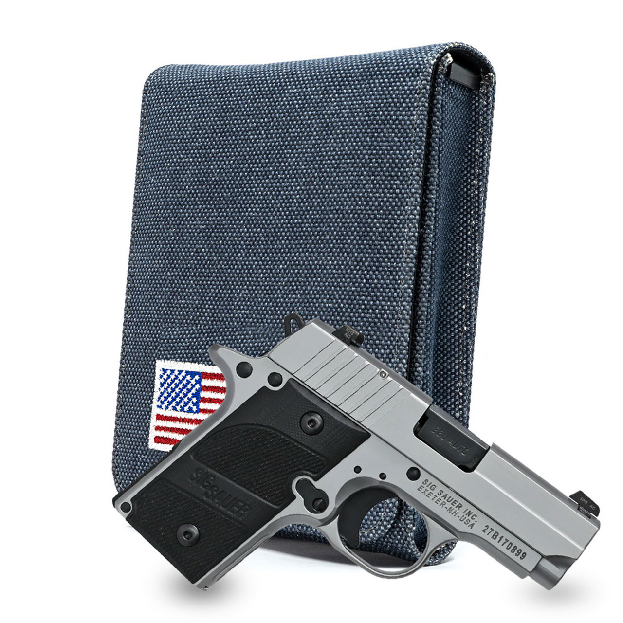 Sig P238 Denim Canvas Flag Series Holster