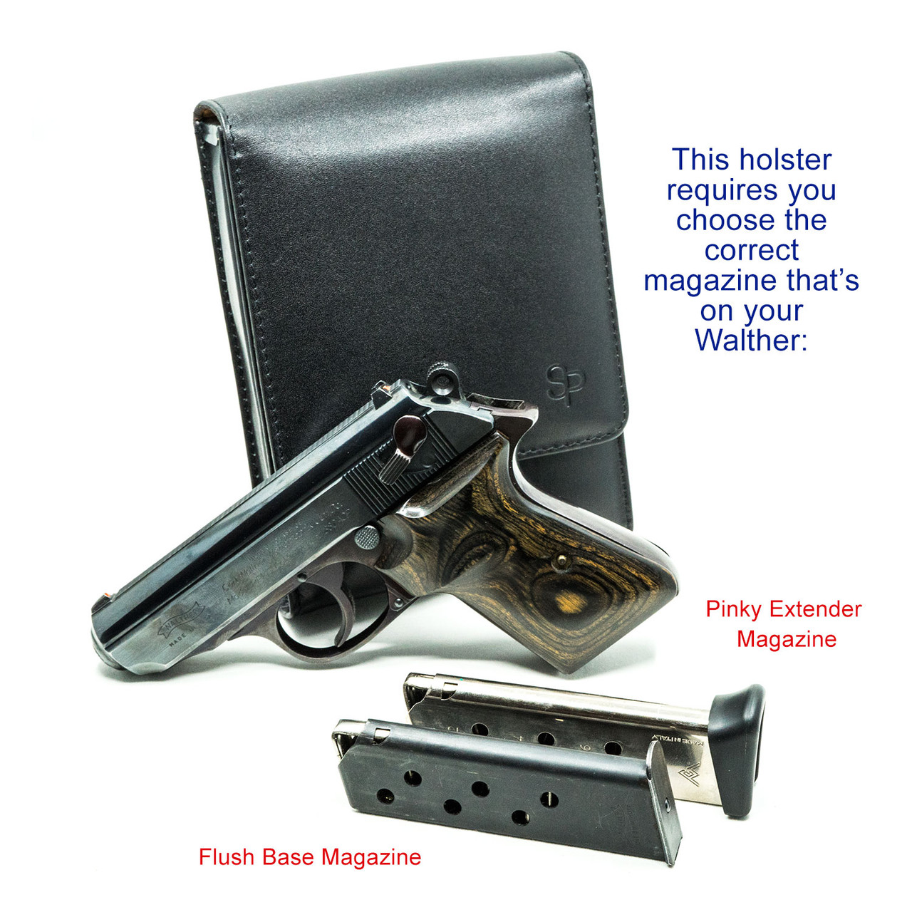 Walther PPK/S Concealed Carry Holster (Belt Loop)