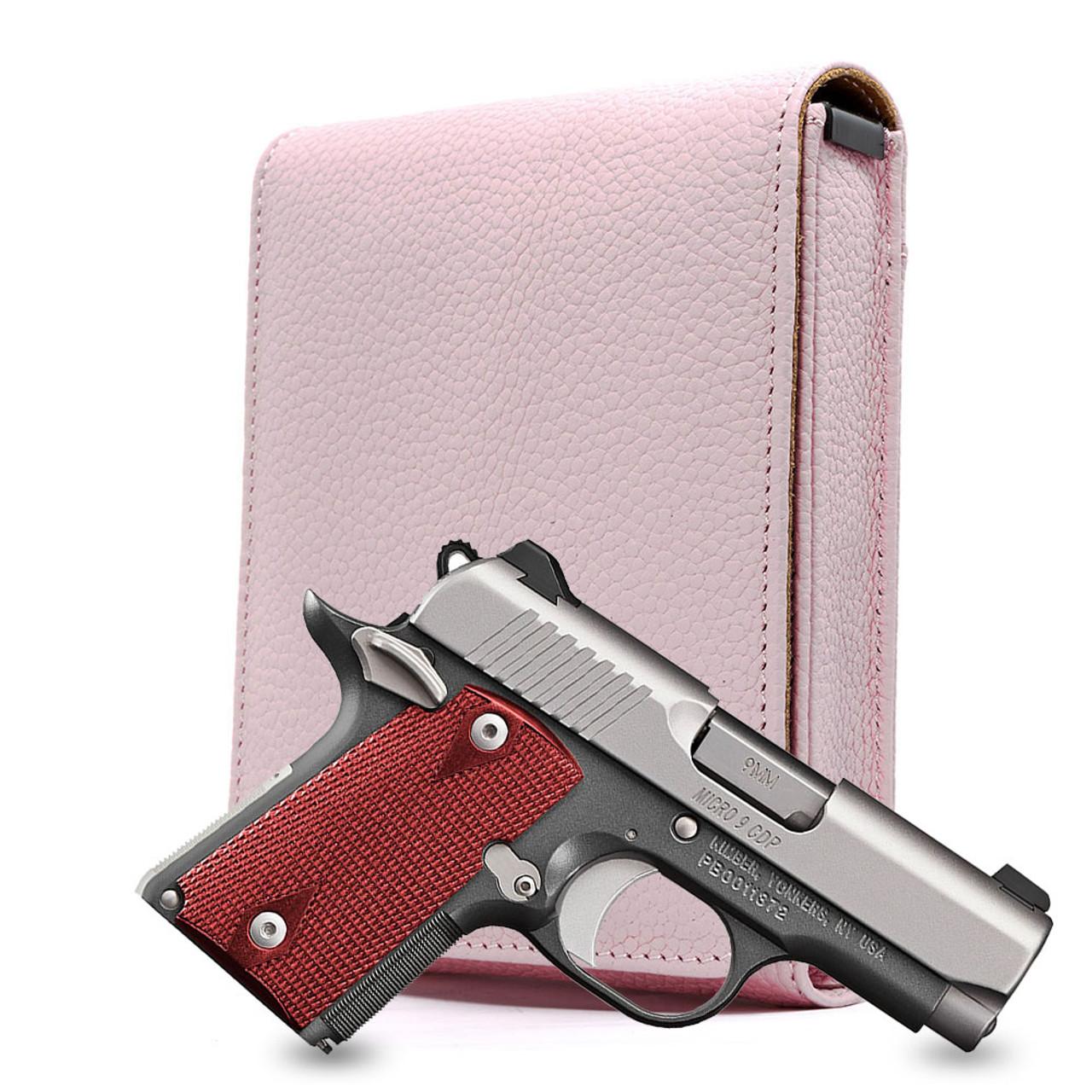 Kimber Micro CDP 9mm Pink Carry Faithfully Cross Holster