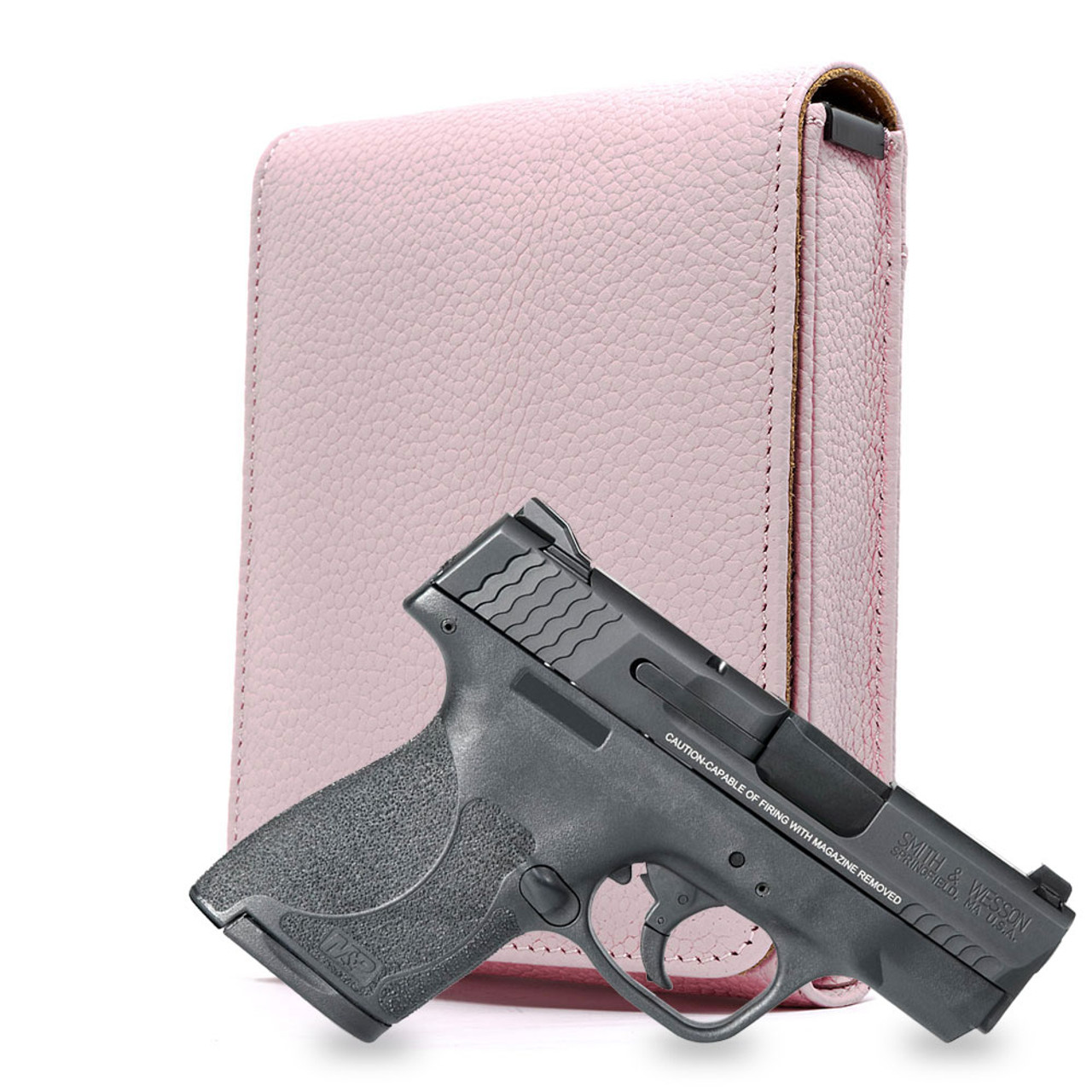 M&P Shield 9mm Pink Carry Faithfully Cross Holster