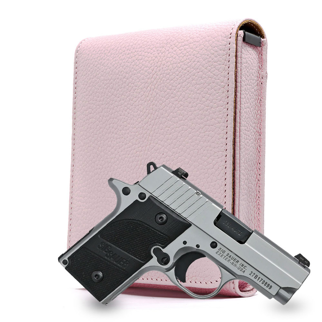Sig P238 Pink Carry Faithfully Cross Holster
