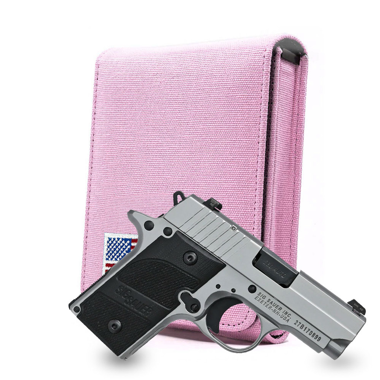 Sig P238 Pink Canvas Flag Series Holster