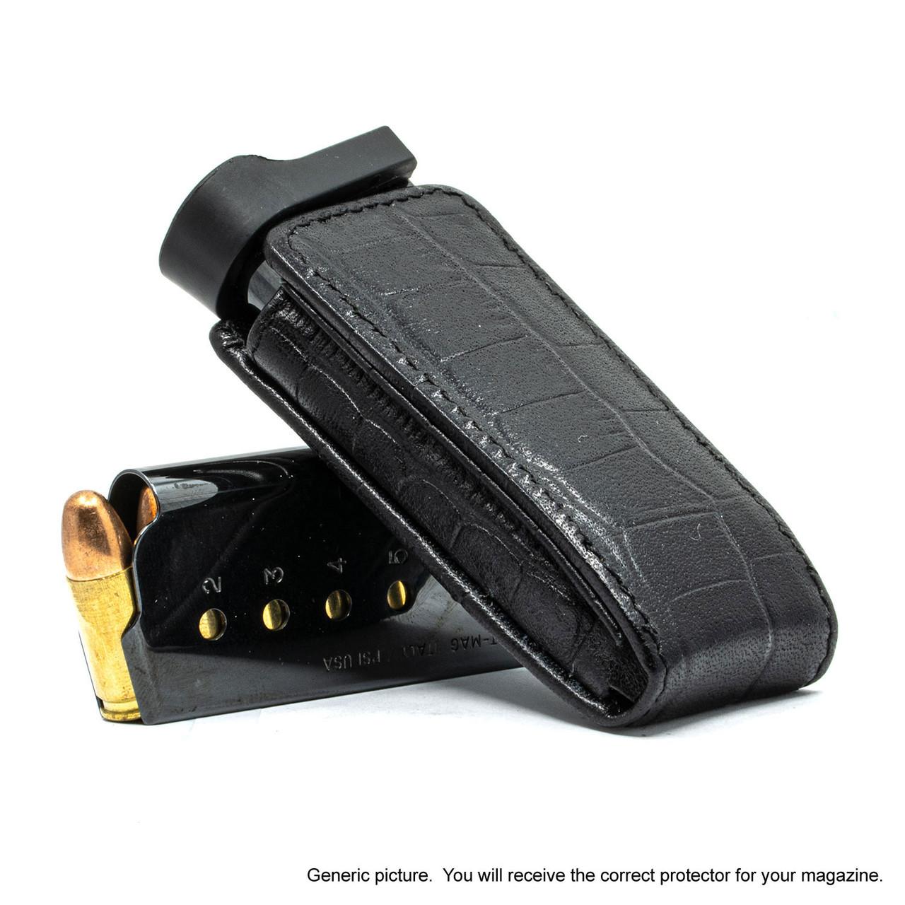 Colt Mustang Pocketlite Black Alligator Magazine Pocket Protector