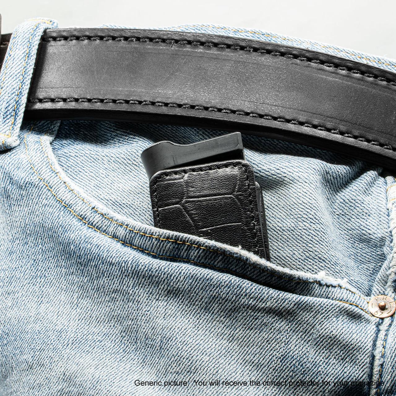 Kahr MK9 Black Alligator Magazine Pocket Protector